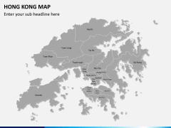 Hongkong map PPT slide 2