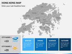 Hongkong map PPT slide 20
