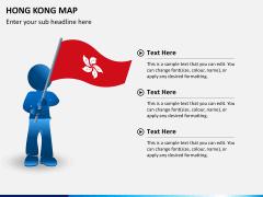 Hongkong map PPT slide 22