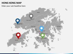 Hongkong map PPT slide 6