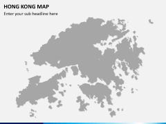 Hongkong map PPT slide 7