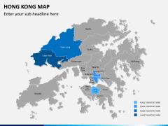 Hongkong map PPT slide 8