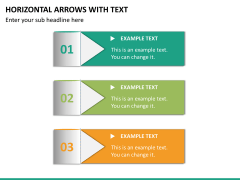 Horizontal arrows with text PPT slide 13