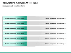 Horizontal arrows with text PPT slide 24