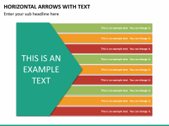 Horizontal arrows with text PPT slide 15
