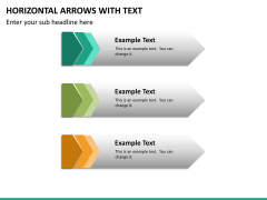 Horizontal arrows with text PPT slide 19