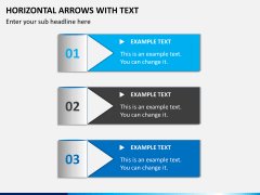 Horizontal arrows with text PPT slide 1