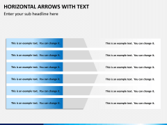 Horizontal arrows with text PPT slide 12