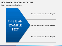 Horizontal arrows with text PPT slide 2