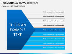 Horizontal arrows with text PPT slide 3