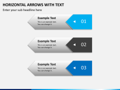 Horizontal arrows with text PPT slide 6