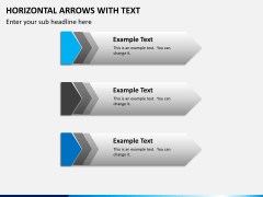 Horizontal arrows with text PPT slide 7