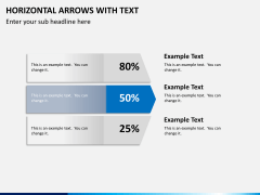 Horizontal arrows with text PPT slide 8