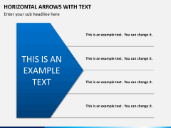 Horizontal arrows with text PPT slide 9