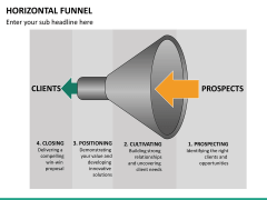 Horizontal funnel PPT slide 24