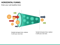 Horizontal funnel PPT slide 12