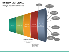 Horizontal funnel PPT slide 16