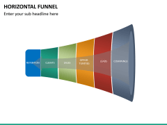 Horizontal funnel PPT slide 18