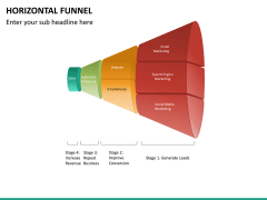 Horizontal funnel PPT slide 21