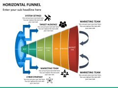 Horizontal funnel PPT slide 22