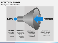 Horizontal funnel PPT slide 10