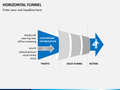 Horizontal funnel PPT slide 3