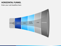 Horizontal funnel PPT slide 4
