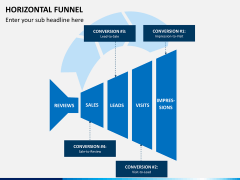 Horizontal funnel PPT slide 5