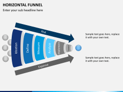 Horizontal funnel PPT slide 6