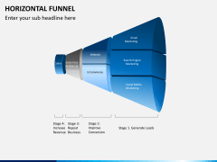 Horizontal funnel PPT slide 7