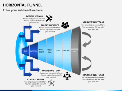 Horizontal funnel PPT slide 8