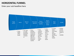 Horizontal funnel PPT slide 9
