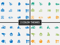 Housing icons PPT cover slide