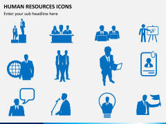 HR icons PPT slide 1