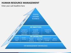 HR management PPT slide 1