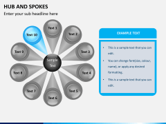 Hub and spokes PPT slide 1