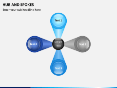 Hub and spokes PPT slide 2