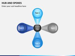 Hub and spokes PPT slide 2