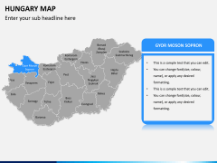 Hungary map PPT slide 10