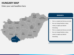 Hungary map PPT slide 11