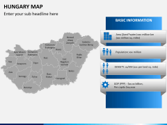 Hungary map PPT slide 13