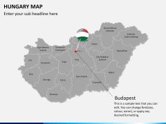 Hungary map PPT slide 15