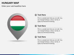 Hungary map PPT slide 17
