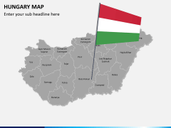 Hungary map PPT slide 3
