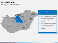 Hungary map PPT slide 8