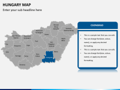 Hungary map PPT slide 9