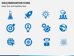 Idea Innovation Icons PPT slide 1
