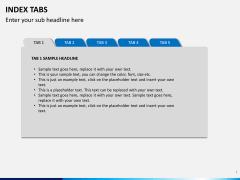 Index tabs PPT slide 1