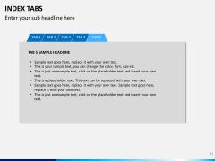 Index tabs PPT slide 10