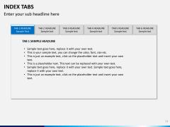 Index tabs PPT slide 11